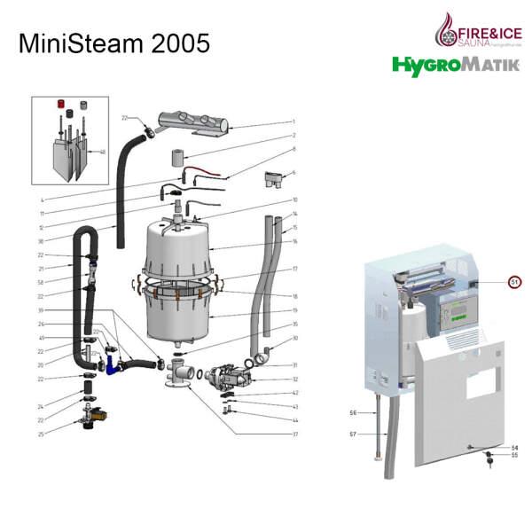 Basic-Hauptplatine der Steuerung für Dampfgeneratoren (B-2526201)