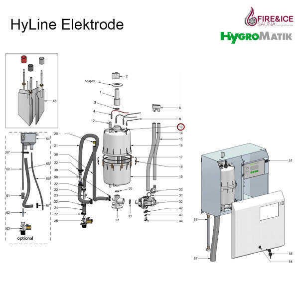 Sensorelektrodenstecker für Dampfgeneratoren (E-3216025)