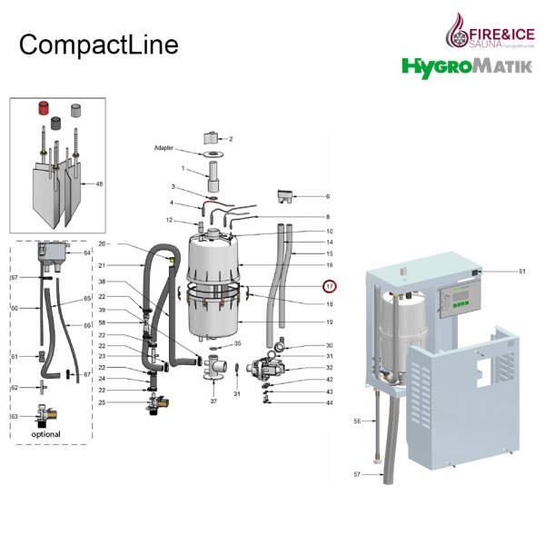O-Ring-Dichtung für Dampfgeneratoren (E-3216044)
