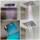 Verchromtes Deckenelement bestehend aus: Tropenregenbrause, Wasserfall Teilstrahl, Wasserfall Vollstrahl, Nebeldusche (4 RGB Spots)