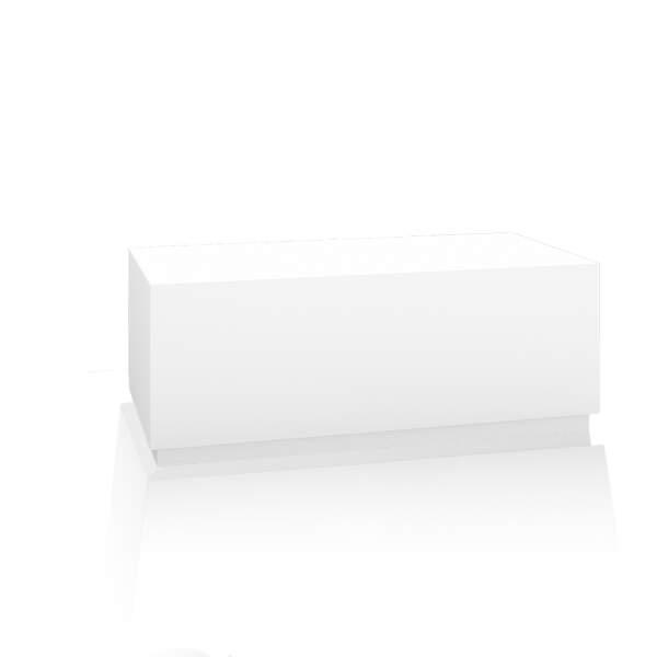 Bankblock, für Fußbecken, 120x40x50 cm, Koprus: weiß, Sockel: weiß