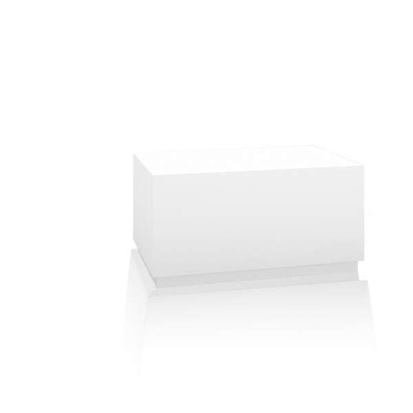 Bankblock, für Fußbecken, 90x40x50 cm, Korpus: weiß, Sockel: weiß