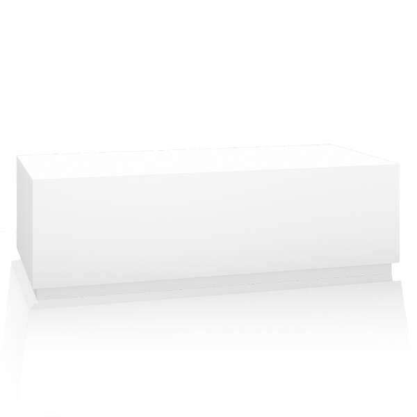 Bankblock, für Fußbecken, 150x40x50 cm, Korpus: weiß, Sockel: weiß