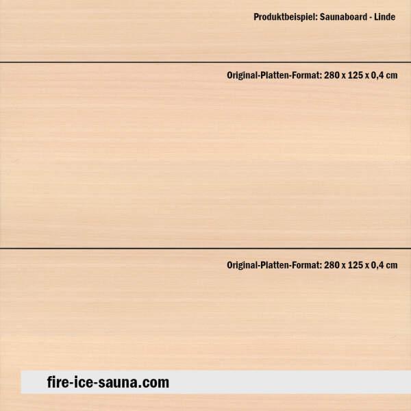 Saunaholz Linde Flex - extraschmales Furnierholz