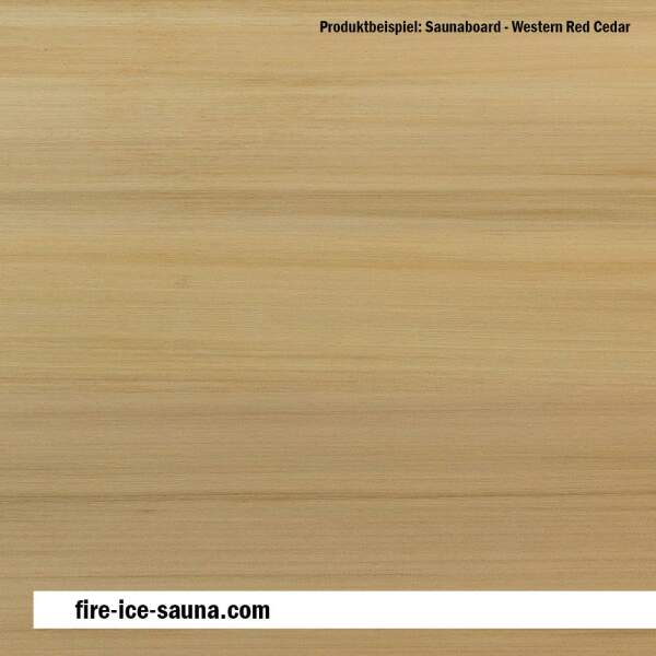 Saunaholz Western Red Cedar Flex - extraschmales Furnierholz