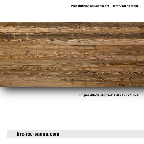 Saunaholz Sonnboard Braun - sonnenverbranntes Furnierholz