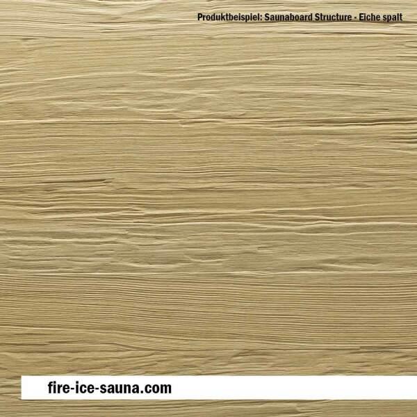 Saunaholz Eiche europäisch mit geprägter Oberfläche - Furnier strukturiert mit Spaltprägung