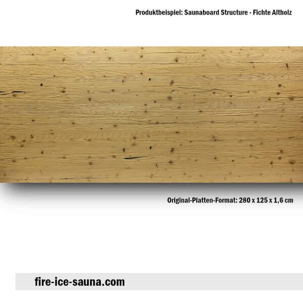 Saunaholz Fichte altholz mit geprägter Oberfläche - Furnier strukturiert mit Spaltprägung