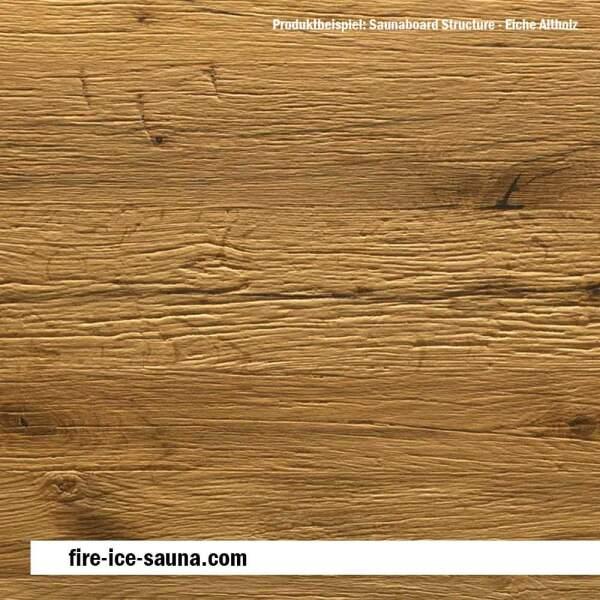 Saunaholz Eiche altholz mit geprägter Oberfläche - Furnier strukturiert mit Diamantprägung
