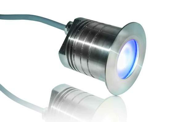 Floorlight FL 60 4 RGBW, wasserresistent, begehbar, für Außenbereich, Sauna, Nassbereich, Dampfbad