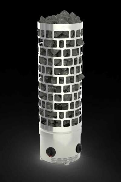 Säulenofen ARI mit integrierter Saunasteuerung 7,5kW