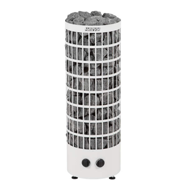 Saunaofen Cilindro PC70 (offen) 7,0 kW, integr. Steuerung, Weiß