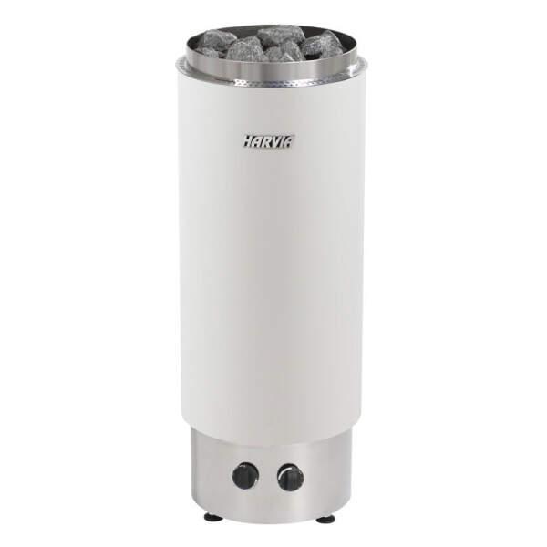 Saunaofen Cilindro PC70F (geschlossen) 7,0 kW, integr. Steuerung, Weiß