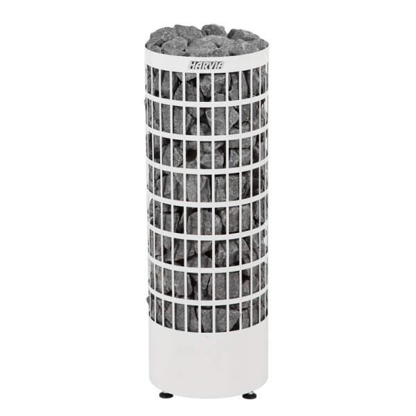 Saunaofen Cilindro PC90 (offen) 9,0 kW, integr. Steuerung, Weiß