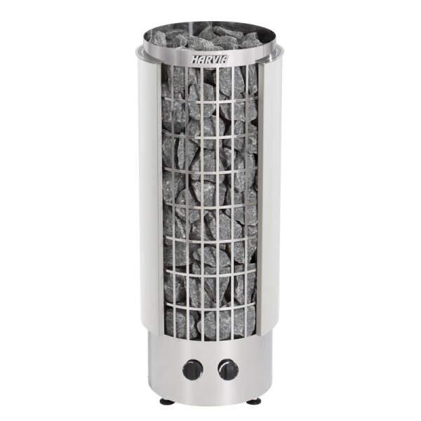 Saunaofen Cilindro PC90H (halb offen) 9,0 kW, integr. Steuerung, Weiß