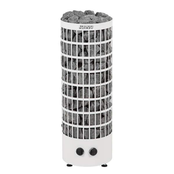 Harvia Saunaofen Cilindro PC90EE (offen) 9,0 kW inkl. Steuerung, Weiß