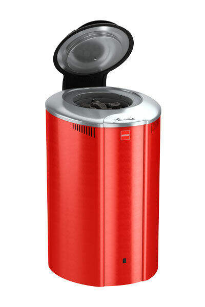 Saunaofen Forte AF4, 4 kW, mit Steuerung, Farbe: Rot