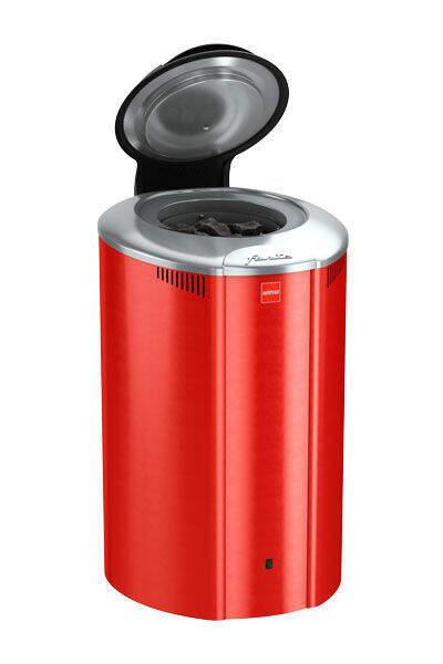 Saunaofen Forte AF6, 6 kW, mit Steuerung, Farbe: Rot