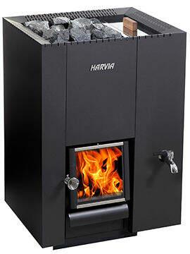 Holz Saunaofen Harvia Linear 22 RS | 26,1 kW (8-22 m³)