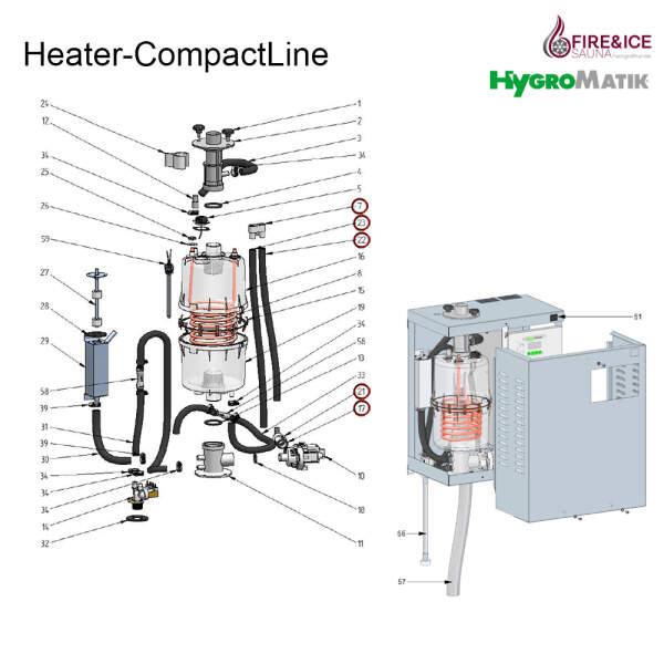 Ablaufschlauch-System für Dampfgeneratoren (B-3401053)