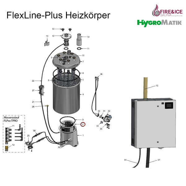 Siebkorb für Stützfuß des Zylinders für Dampfgeneratoren (E-2205052)