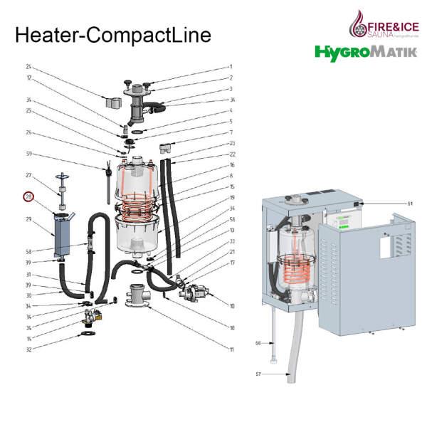 Gummi-Dichtring der Niveausteuerung für Dampfgeneratoren (E-2304058)