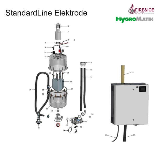 Stützfuß des Dampfzylinder für Dampfgeneratoren (E-3220002)